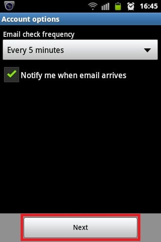 Android Email Configuration