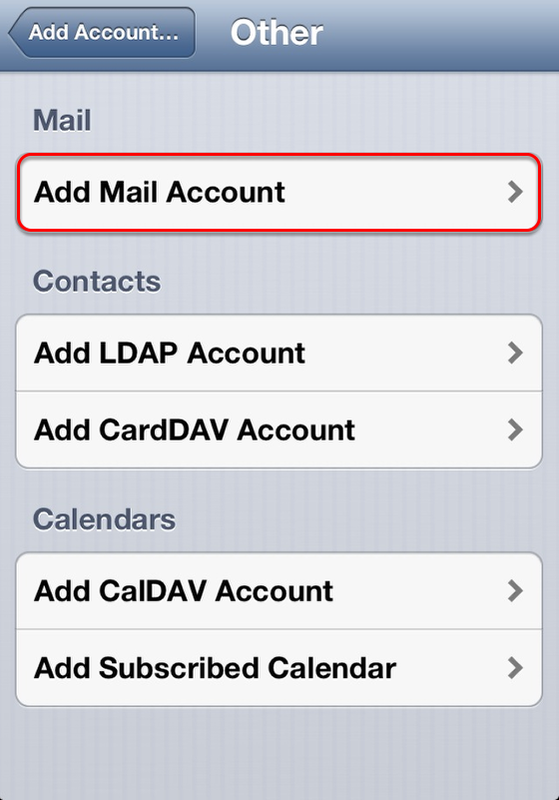 iPhone Email Configuration